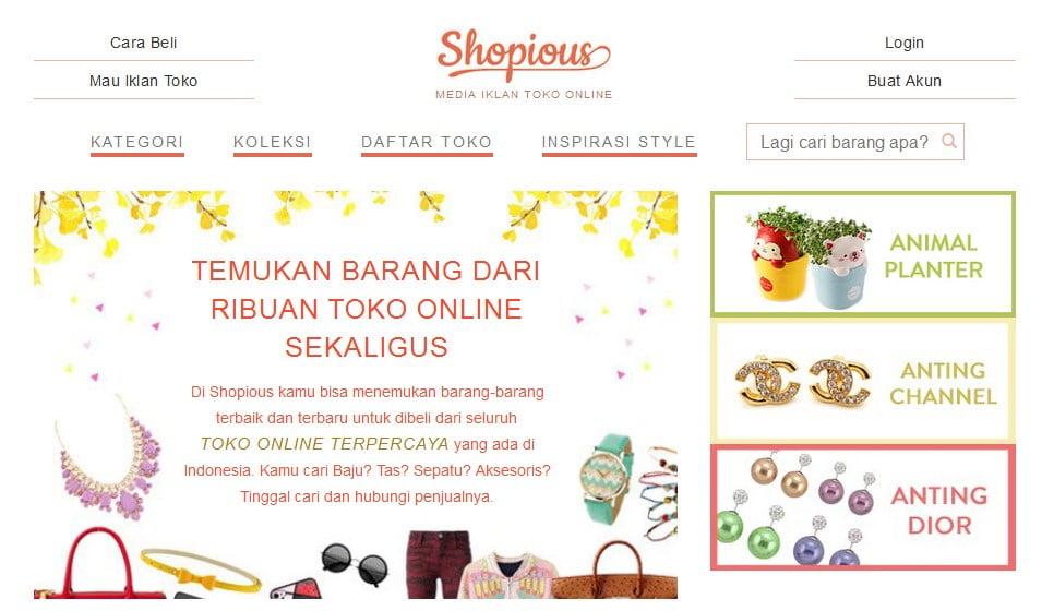 shopious, direktori toko online, toko online