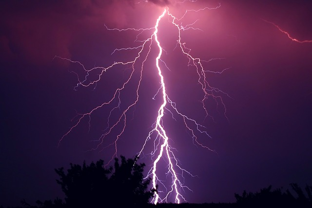 Kilat, Petir, Foto, Hujan