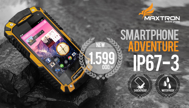 Smartphone Murah Tahan Air Maxtron IP67-3