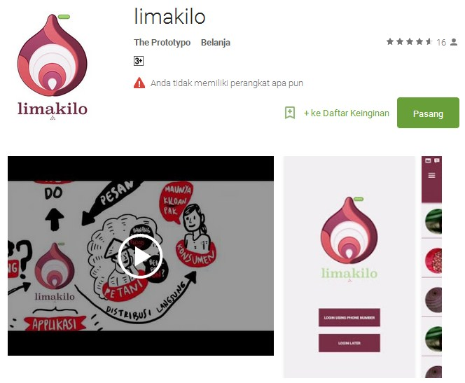 aplikasi jual beli pertanian LimaKilo