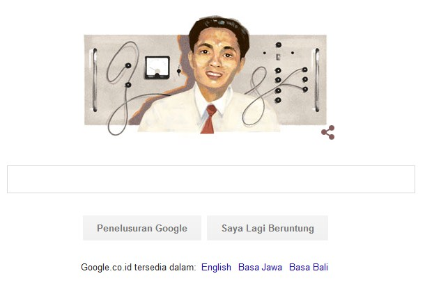 Google, Google Doodle, Samaun Samadikun, Mikroelektronika