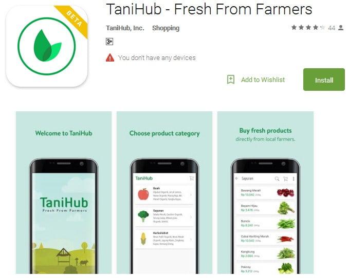 aplikasi e tani TaniHub
