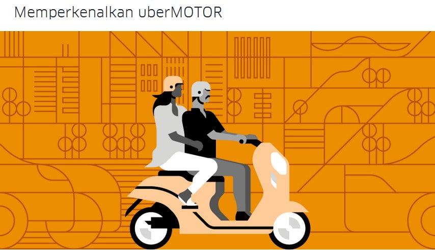 Uber, uberMOTOR, ojek online