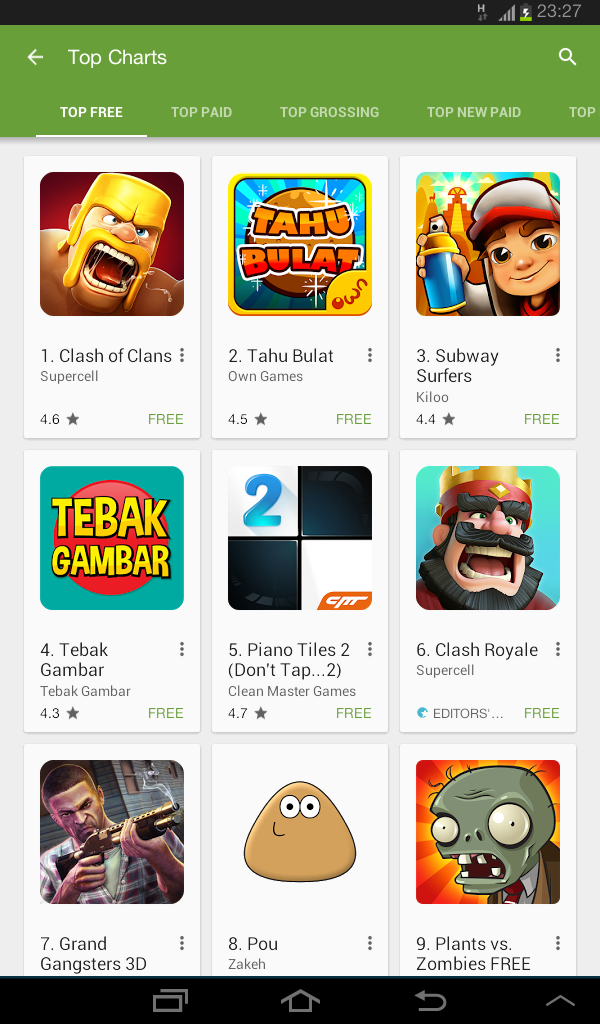 game, Tahu Bulat, Google Play Store, Android, Top Free