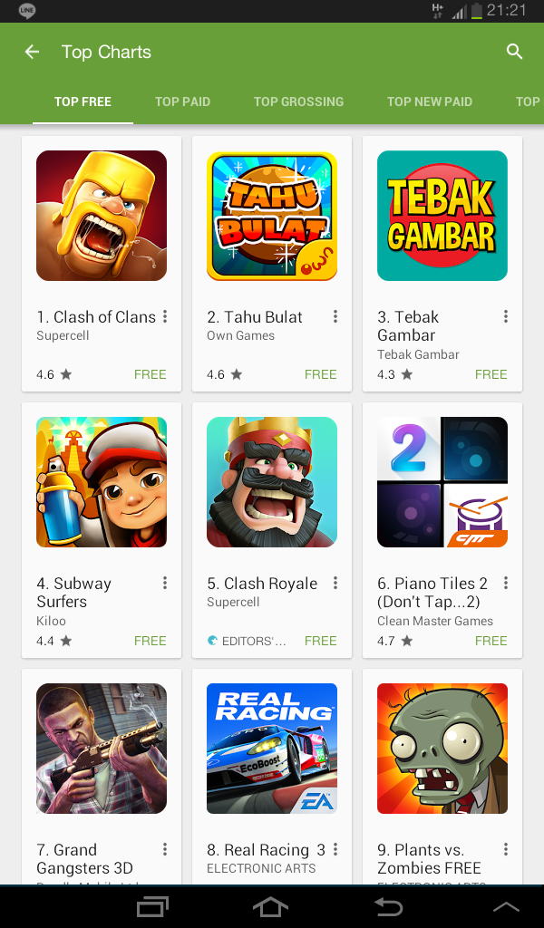 game, tahu bulat, android, own games, google play store, game gratis