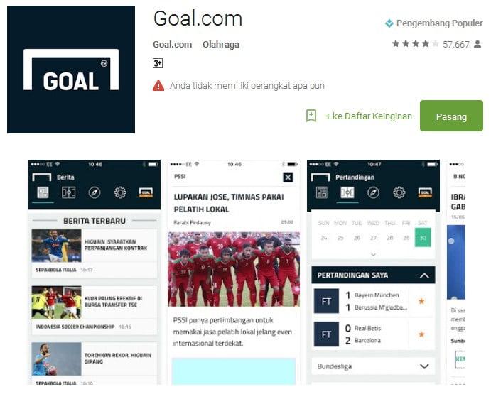 Goal.com Apps