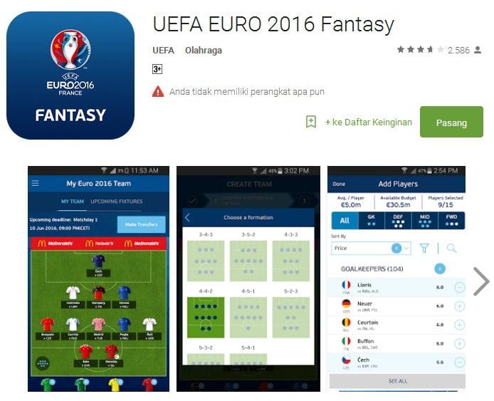 UEFA EURO 2016 Fantasy