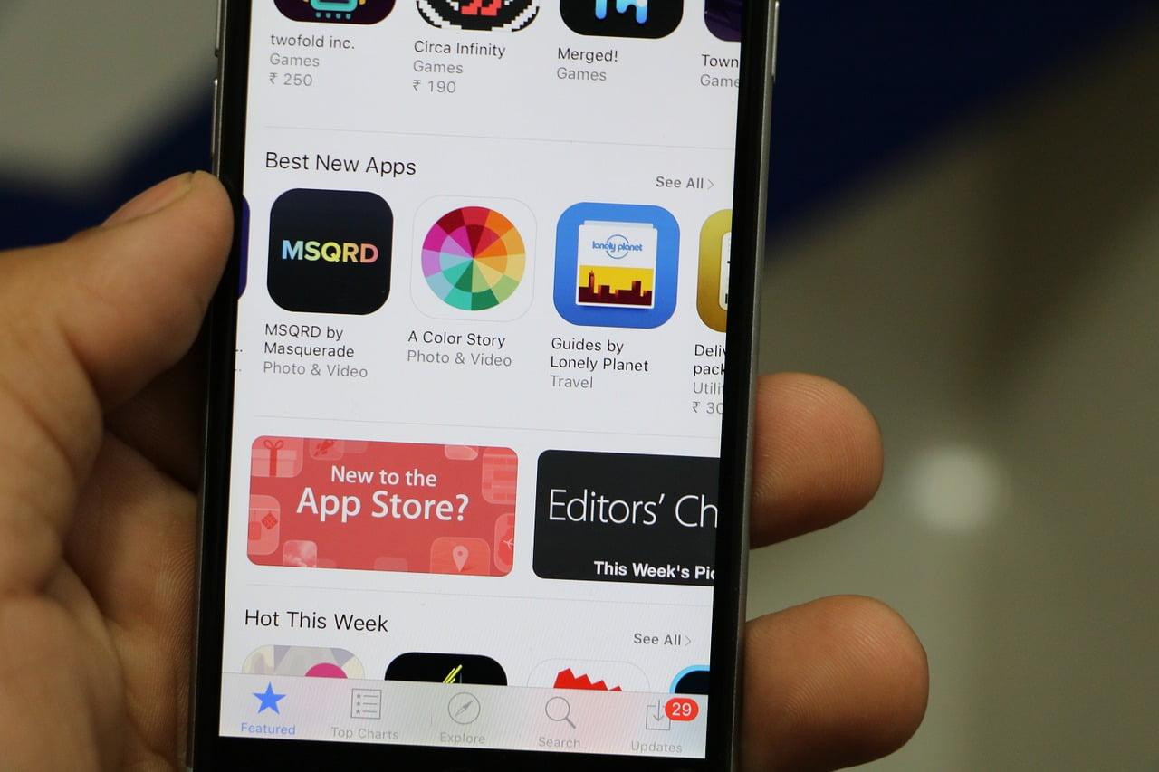 Tampilan App Store di iPhone