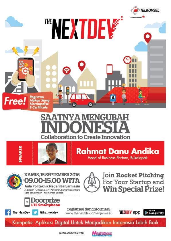 Poster The NextDev Roadshow di Banjarmasin