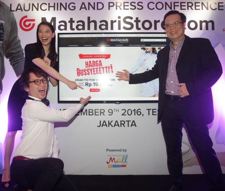 Saat Peluncuran dan Konferensi Pers MatahariStore.com di Jakarta
