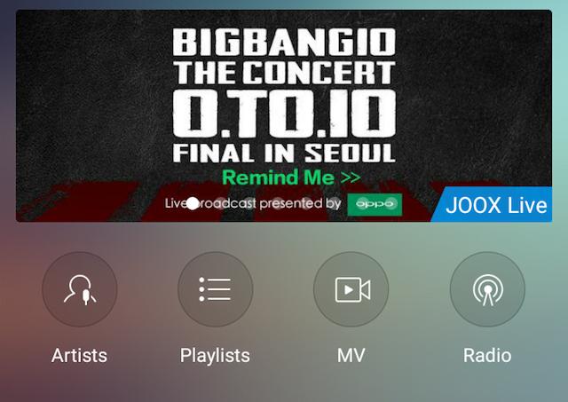 JOOX sajikan Siaran Langsung Konser Big Bang