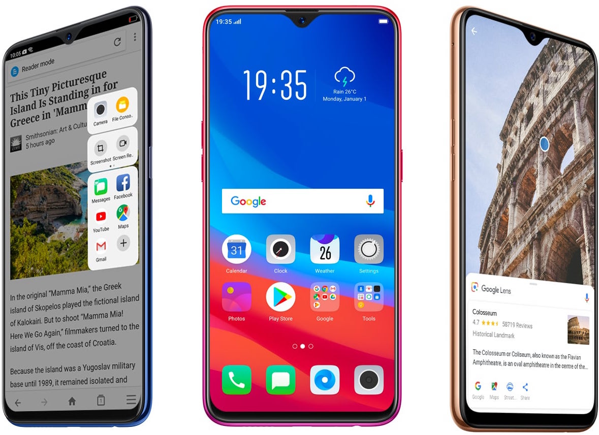 HP OPPO F9 VOOC Flash Charge Waterdrop Screen
