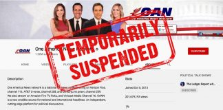 Youtube suspends One America News Network OANN