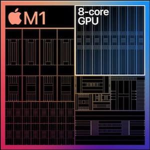 M1 chip 8 dedicated GPU cores